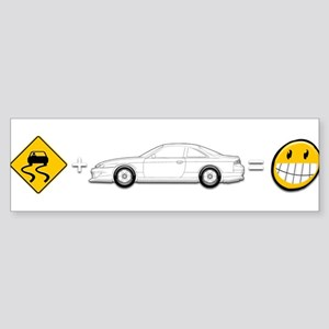 Caution sign Drift and S14 is fun Sticker (Bumper)