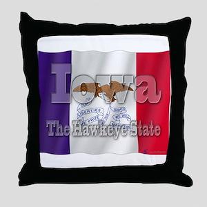 Iowa, The Hawkeye State Throw Pillow