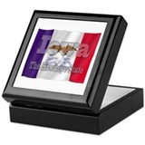Iowa hawkeye Square Keepsake Boxes
