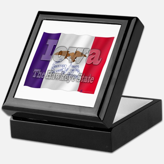 Iowa, The Hawkeye State Keepsake Box