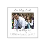 Mittfully Speaking Square Sticker 3