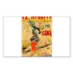 La Debacle Vintage Art Sticker (Rectangle 50 pk)