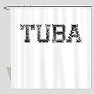 TUBA, Vintage Shower Curtain