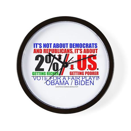 2% GET RICH, U.S. GETS POOR Wall Clock
