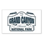Grand Canyon Blue Signag Sticker (Rectangle 50 pk)