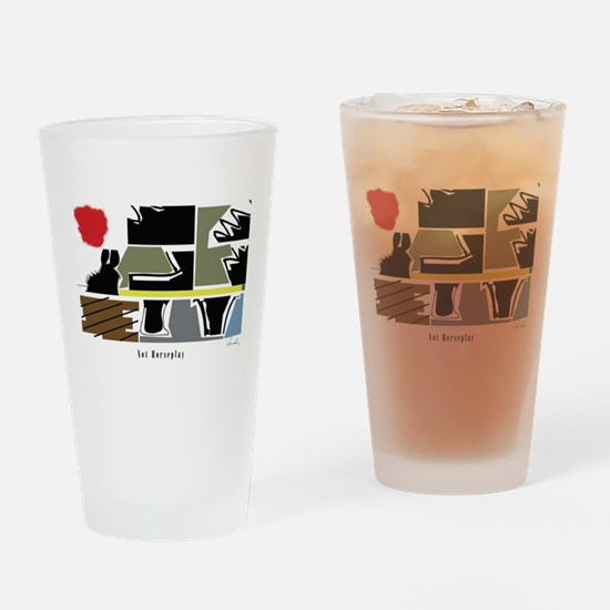 Not Horseplay Drinking Glass