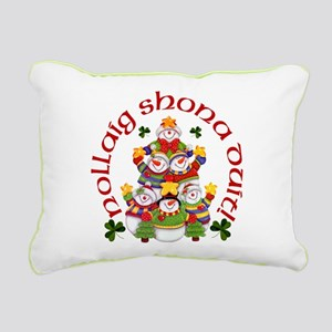 Irish Snowmen Rectangular Canvas Pillow
