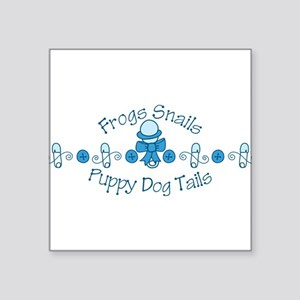 """Frogs And Snails Square Sticker 3"""" x 3"""""""