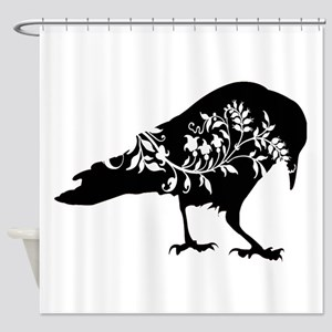Fancy Crow Shower Curtain