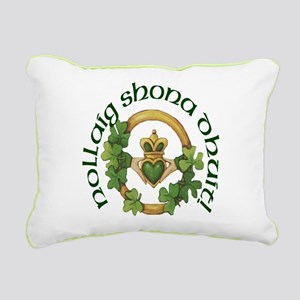 Christmas Claddagh Rectangular Canvas Pillow