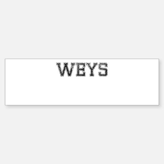 WEYS, Vintage Sticker (Bumper)