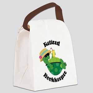 Retired Bookkeeper Gift Canvas Lunch Bag