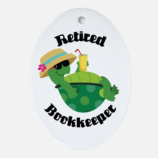 Retired Bookkeeper Gift Ornament (Oval)