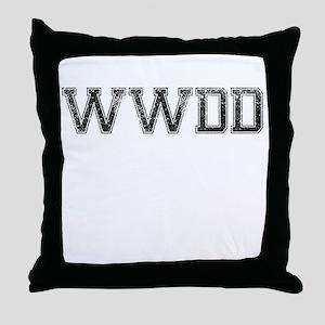 WWDD, Vintage Throw Pillow