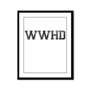 WWHD, Vintage Framed Panel Print