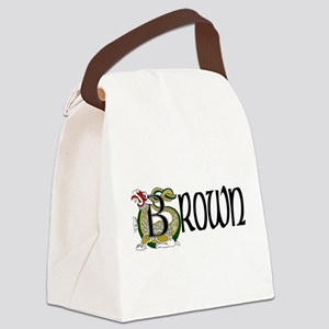 Brown Celtic Dragon Canvas Lunch Bag