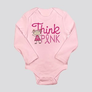 Think Pink Long Sleeve Infant Bodysuit