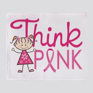 Think Pink Throw Blanket