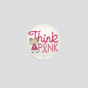 Think Pink Mini Button