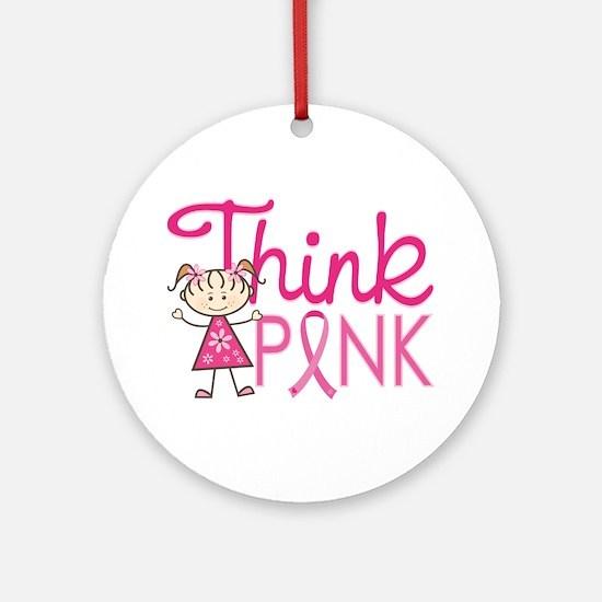 Think Pink Ornament (Round)