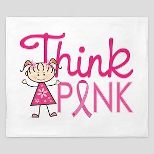 Think Pink King Duvet