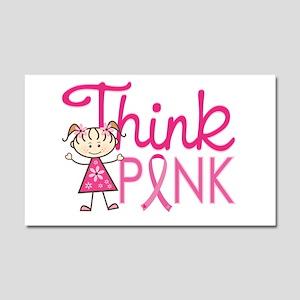 Think Pink Car Magnet 20 x 12