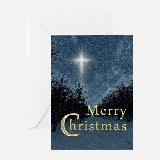 The Bethlehem Star Merry Christmas Greeting Card