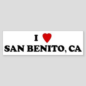 I Love SAN BENITO Bumper Sticker