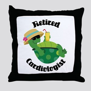 Retired Cardiologist Gift Throw Pillow