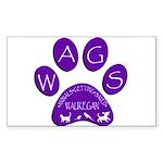 WagsLogo1_Purple Sticker (Rectangle 50 pk)