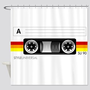 Cassette tape label 2 Shower Curtain