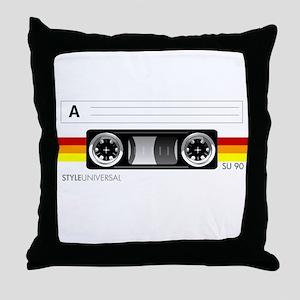 Cassette tape label 2 Throw Pillow