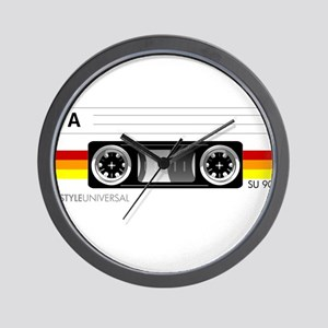 Cassette tape label 2 Wall Clock