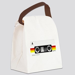 Cassette tape label 2 Canvas Lunch Bag