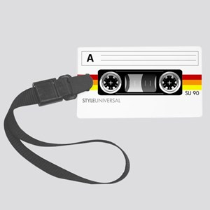 Cassette tape label 2 Large Luggage Tag