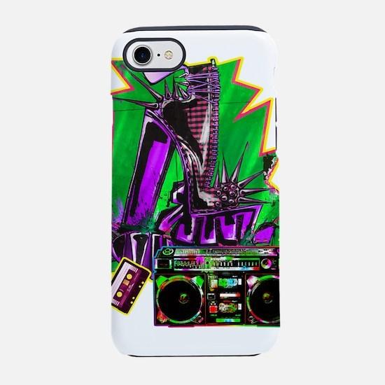 Punk Rock Boombox iPhone 7 Tough Case