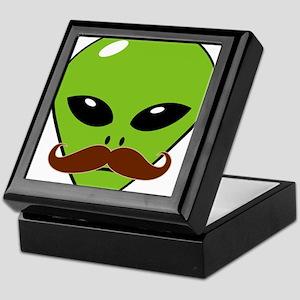 Alien Moustache Keepsake Box