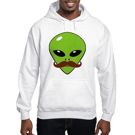 Alien Moustache Hooded Sweatshirt