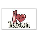 I Heart Bacon Sticker (Rectangle 50 pk)
