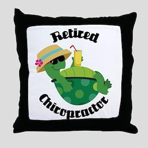 Retired Chiropractor Gift Throw Pillow