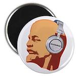 Lenin wearing heaphones Magnet