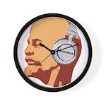 Lenin wearing heaphones Wall Clock