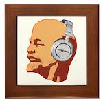 Lenin wearing heaphones Framed Tile