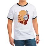 Lenin wearing heaphones Ringer T