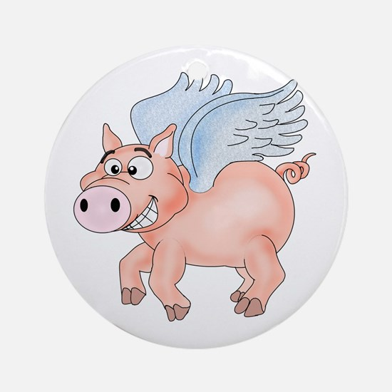 flying Pig 2 Ornament (Round)