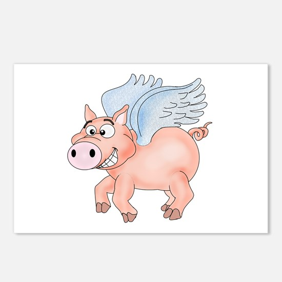 flying Pig 2 Postcards (Package of 8)