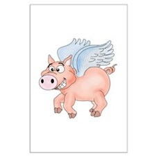 flying Pig 2 Large Poster