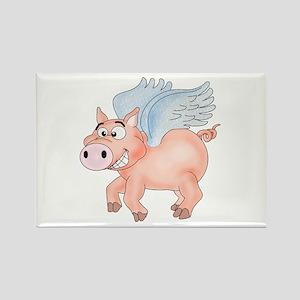 flying Pig 2 Rectangle Magnet