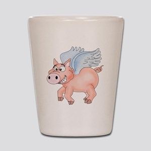 flying Pig 2 Shot Glass