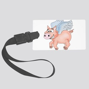 flying Pig 2 Large Luggage Tag